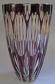 European Cased-Glass Vase, c. 1960