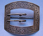 American Sterling Silver Buckle Brooch, c. 1910