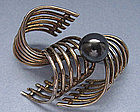 German Sterling Gilt Pin, c. 1960