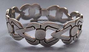 Mexican Sterling Link Bracelet, c. 1955