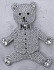 Butler and Wilson Diamonte Teddy Bear Brooch