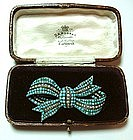 Victorian Bow Brooch in Original Box
