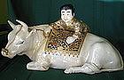Rare Satsuma Model of a Bull and a Boy