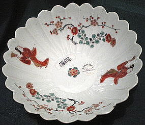 19th Century Kakiemon Chrysanthemum Form Bowl
