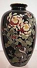 Japanese Cloisonne Vase - Chrysanthemums