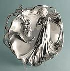 WMF Art Nouveau Figural Tray