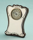 British Art Nouveau Silver Clock