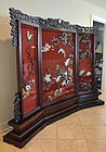 Chinese Cinnabar Lacquer Screen