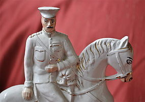 Lord Kitchener and Lord French Staffordshire Figures