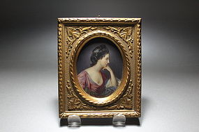 Beautiful Miniature Portrait Painting on Ivory,