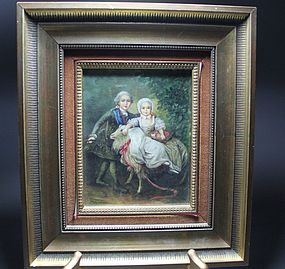 Wonderful French Miniature Painting on Ivory.