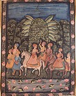 Large Indian (Jaipur School, 19th/20th C.) Painting