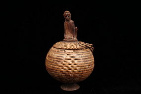 Wonderful African Woven Basket.
