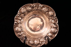 Wonderful Sterling Silver Bowl, Ear 20th C.