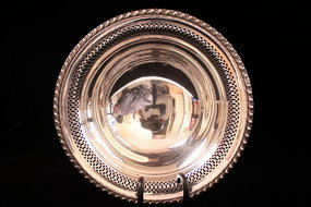 Wonderful Large Sterling Silver Bowl, Ear 20th C.