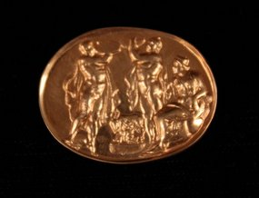 18K Gold impression of Greek Seal.