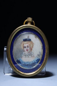 19c French Miniature Portrait Paintings on Ivory