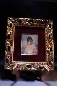 19c Miniature Portrait Paintings on Ivory .