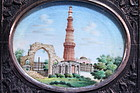 SUPERB MINIATURE PAINTINGS ON IVORY, QUTUB MINAR