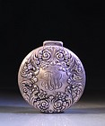 TIFFANY & CO. STERLING LIDDED SNUFF BOX,