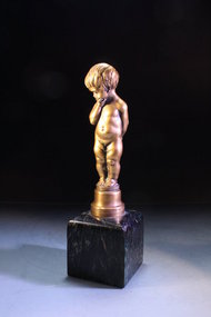 Fine Continental Bronze Figure of Child,