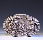 Continental Silver Tobacco Box, 18th century-style,