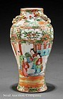 Chinese Export Famille Rose Enameled Porcelain Vase,