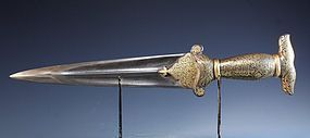 17th C. Persian Dagger, Safavid Dynasty,
