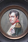 Miniature Portrait Painting of  Napoleon on Ivory