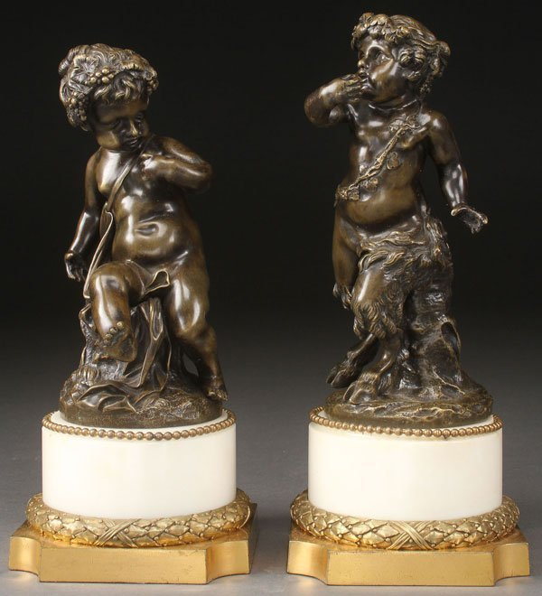 Patinated Bronze Figures; Young Saytr.