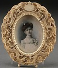 19th C. Miniature Portrait Painting on Ivory.