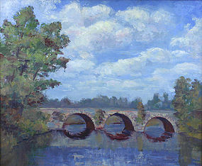Frederick J. Wilder landscape painting, Vermont artist