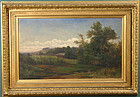Sylvester Phelps Hodgdon landscape painting with barn
