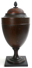 English cutlery or knife urn in mahogany, Victorian