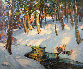 Thomas R. Curtin painting - Winter Sunshine, Vermont