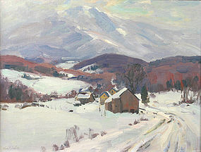 Thomas R. Curtin painting - Mt. Mansfield, Vermont