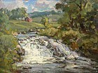 Thomas R. Curtin painting - Rushing Stream