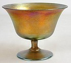 Louis Comfort Tiffany Favrile art glass sherbet