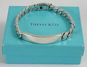 Tiffany And Co Sterling Silver I D Curb Link Bracelet Item 1200204