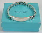 Tiffany and Co. sterling silver I.D. curb link bracelet