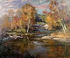 Robert Gruppe autumnal painting - Trout Stream, Vermont
