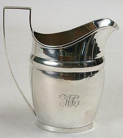 Early American coin silver milk jug - Joel Sayre, NY