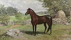 Charles Abel Corwin painting - Morgan horse portrait