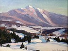 Emile Gruppe painting of Mount Mansfield, Vermont
