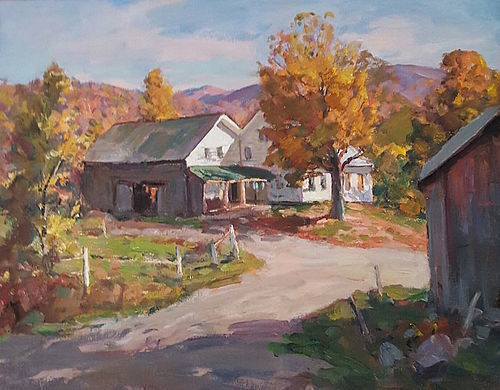 Thomas R Curtin landscape painting Vermont Farm in