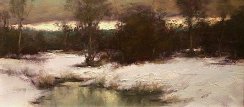 Dennis Sheehan Painting Winter Twilight Item 1358834
