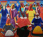 Alberoi Bazile Haitian painting of market women