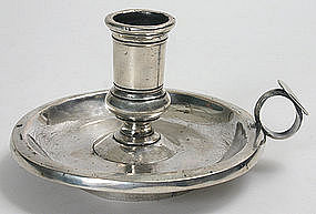 Coin silver chamberstick, Albany, New York area