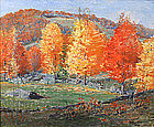 Arthur B. Wilder painting - Vermont Maples in autumn