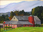 Luigi Lucioni painting of Vermont barn at Mt. Equinox